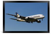 Singapore Airlines Airbus A380, Framed Print