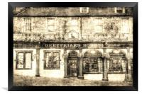 Greyfriars Bobby Pub Edinburgh Vintage, Framed Print