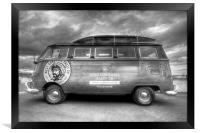 VW Camper Van, Framed Print