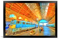 Railway Station Pop Art, Framed Print