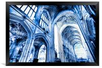 The Blue Abbey, Framed Print