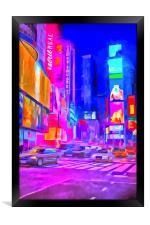 Times Square Pop Art, Framed Print