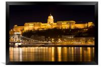 Budapest At Nighttime , Framed Print