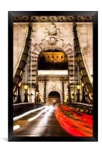 Budapest Chain Bridge, Framed Print