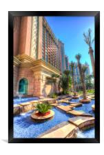 Atlantis Palm Hotel Dubai, Framed Print