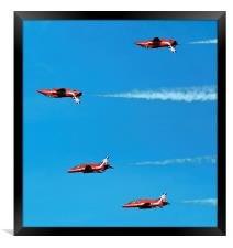 Red Arrows inverse, Framed Print