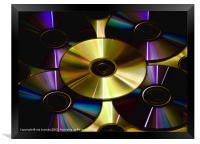 CD GLOW, Framed Print
