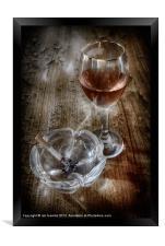 SMOKING WINE, Framed Print