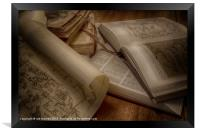 BOOKS OF KNOWLEDGE, Framed Print