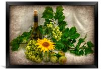 vino and flowers x, Framed Print