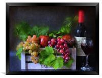 fruit and wine, Framed Print