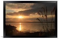 Sunset over Kintyre, Framed Print