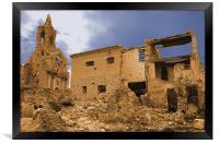 Belchite ruins. Spain, Framed Print