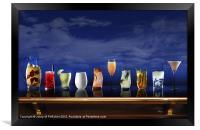 Cocktail selection, Framed Print