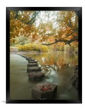 Stepping stones 1, Framed Print
