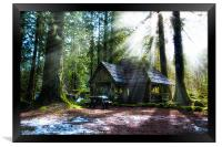 Shelter in the Woods, Framed Print