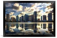 Miami at Dusk, Framed Print