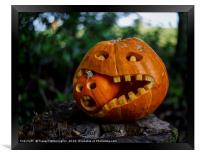 Cannibal Pumpkincaust, Framed Print