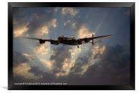 Avro Lancaster - Night Ops, Framed Print