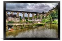 Dinan Port, Brittany, France, Framed Print