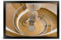 Curling Staircase, Framed Print