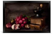 Garlic and Radishes, Framed Print