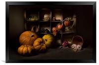 Halloween Still Life, Framed Print