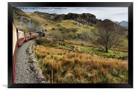Steaming from Caernarfon to Porthmadog 2, Framed Print