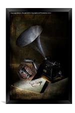 The Phonograph 3, Framed Print