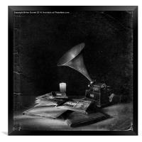 The Phonograph 4 Mono, Framed Print