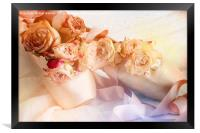 Roses and Dance Shoes, Framed Print