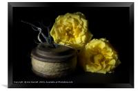 Two Yellow Roses and a Reel of String, Framed Print