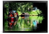 COLOURFUL CANAL, Framed Print
