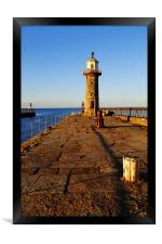 Lighthouse on East Pier, Framed Print
