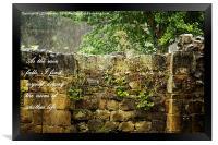 As The Rain Falls, Framed Print