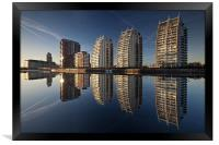 Reflections of Salford Quays, Framed Print