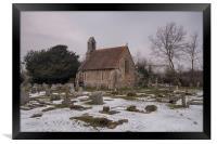 Seasalter Old Church In Winter, Framed Print