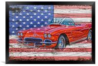 All American Beauty, Framed Print