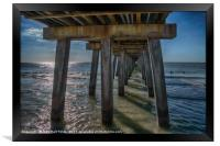 Under the Naples Pier, Framed Print