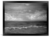 Summer Dreams in black and white, Framed Print