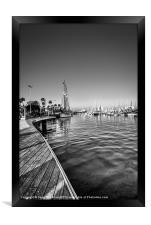 Boats, Port Vell, Barcelona, Framed Print