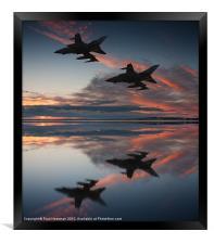 Tornado GR4 sunset, Framed Print