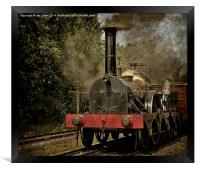 "GWR Broad Gauge ""Firefly"", Framed Print"