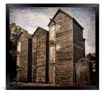 Fishermens Huts at Hastings, Framed Print