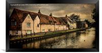 Weavers Cottages Newbury, Framed Print