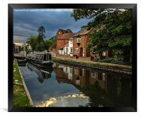 Reflections At West Mills Newbury, Framed Print