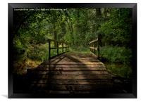 Bridge Over The Woodland River, Framed Print