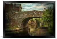 Canal Bridge In Brecon, Framed Print