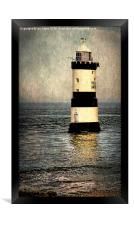 Penmon Trwyn Du Lighthouse Anglesey, Framed Print