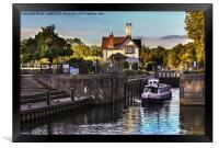 Goring on Thames Lock, Framed Print